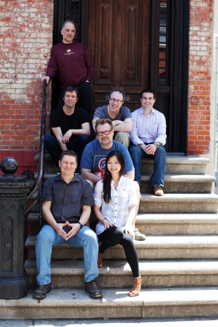 BillBand (from bottom, left to right): Bill Ryan (composer), Vicky Chow (piano), Todd Reynolds (violin), David Cossin (percussion), Mike Lowenstern (bass clarinet), Jonathan Nichol (alto saxophone), Pablo Mahave-Veglia (cello),(not pictured, Ashley Bathgate and Paul De Jong).Photo by Tim Darwish, used by permission.