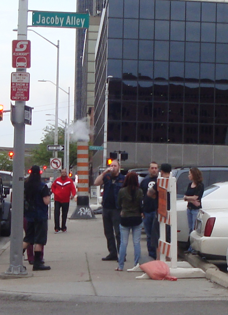 Ghost Fans tailgating before the concert.
